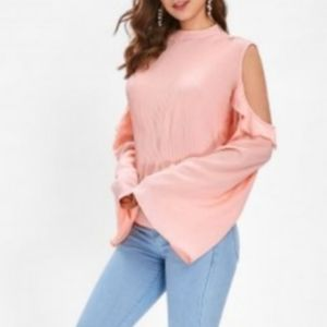 Dressfo cold shoulder blouse